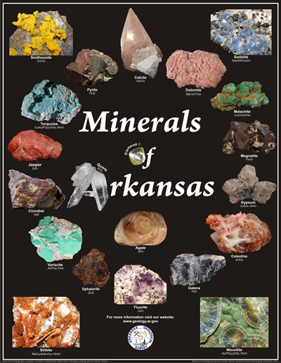 Minerals of Arkansas Poster 2011
