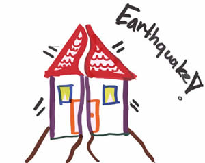 earthquake drawing by elementary student