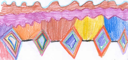 Zig Zag picture drawn by Gibbs Magnet Student