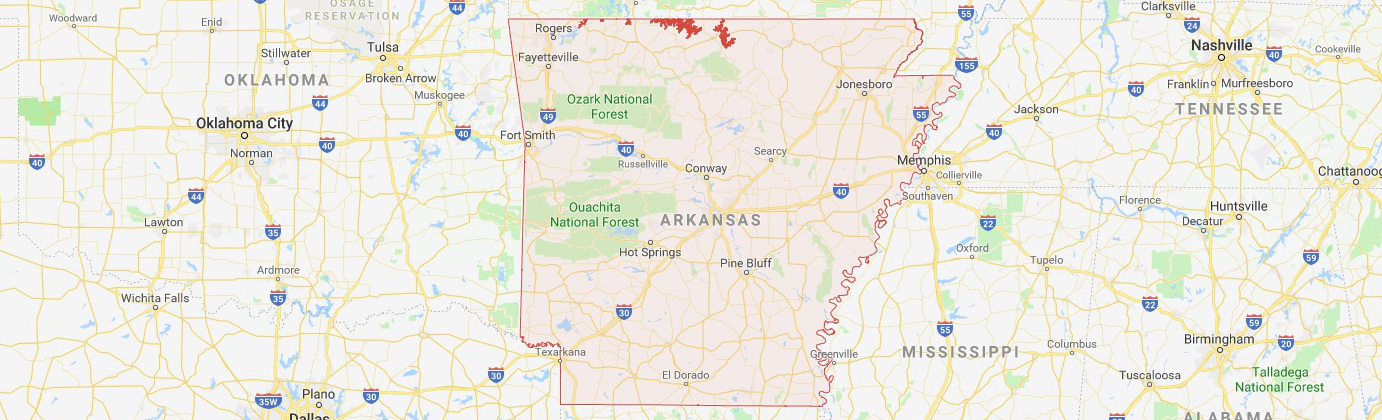 Arkansas map image