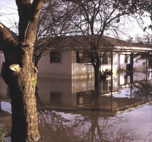 Flooded property & house